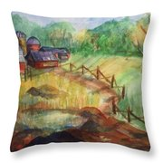 Down The Road A Piece Throw Pillow