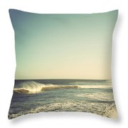 Down The Shore - Seaside Heights Jersey Shore Vintage Throw Pillow