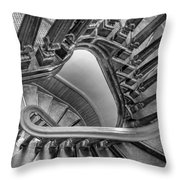Down The Side - Bw Throw Pillow