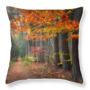 Down The Trail Square Throw Pillow by Bill Wakeley