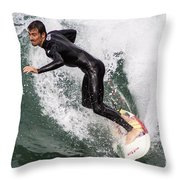 Down The Wave Slope Throw Pillow