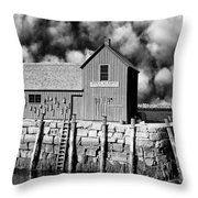 Down To The Waterline Throw Pillow
