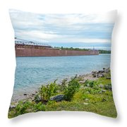Downbound At Mission Point 3 Throw Pillow