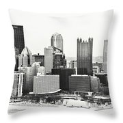 Cold Winter Day In Pittsburgh Pennsylvania Throw Pillow