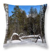 Downed Poplar Throw Pillow