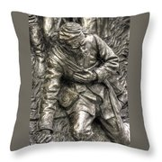 Downed.  State Of Delaware Monument Detail-d Gettysburg Autumn Mid-day. Throw Pillow