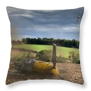 Downfall Of A 109 Colour Version Throw Pillow