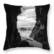 Downhill Cave Throw Pillow