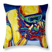 Downhill Racer Throw Pillow