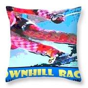 Downhill Racer Throw Pillow