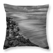 Downhill Waves Throw Pillow