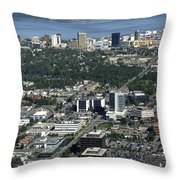 Downtown Anchorage Alaska Throw Pillow