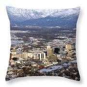 Downtown Anchorage Throw Pillow