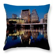 Downtown At Dusk Throw Pillow
