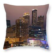 Downtown Atlanta Skyline At Dusk Throw Pillow