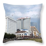 Downtown Atlantic City New Jersey Throw Pillow