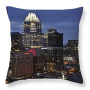 Downtown Austin 3 Throw Pillow
