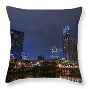 Downtown Austin Throw Pillow