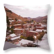 Downtown Bisbee Throw Pillow