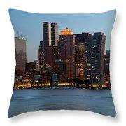 Downtown Boston Skyline Throw Pillow