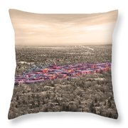 Boulder Colorado  Twenty-five Square Miles Surrounded By Reality Throw Pillow