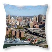 Downtown Buffalo Skyline Throw Pillow