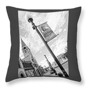Downtown Cheyenne Throw Pillow
