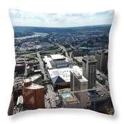 Downtown Cincinnati Form The Top Of Karew Tower Throw Pillow