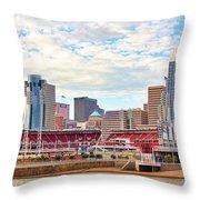 Downtown Cincinnati 9885 Throw Pillow