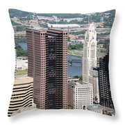Downtown Columbus Throw Pillow