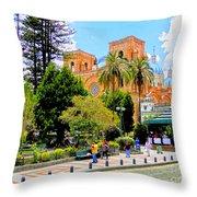 Downtown Cuenca Ecuador Throw Pillow