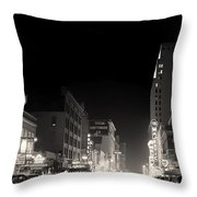 Downtown Dallas 1942 Throw Pillow