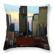 Downtown Denver At Dusk Throw Pillow