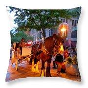 Downtown Denver Colorado Throw Pillow