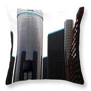Downtown Detroit Through Joey's Eyes Throw Pillow