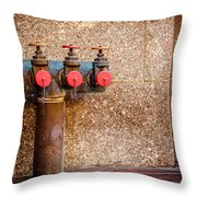 Downtown Extinguisher  Throw Pillow