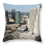 Downtown Fort Worth Skyline Throw Pillow