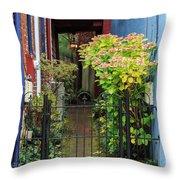 Downtown Garden Path Throw Pillow
