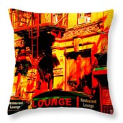 Downtown Heatwave  Throw Pillow