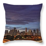 Downtown Houston After The Storm Throw Pillow