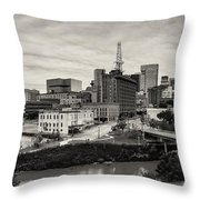 Downtown Houston From Uh-d Throw Pillow
