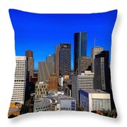 Downtown Houston Painted Throw Pillow