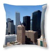 Downtown Houston Texas Throw Pillow