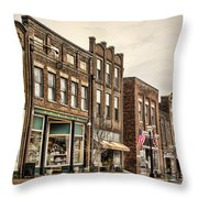 Downtown Jonesborough Throw Pillow