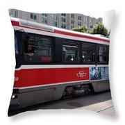 Downtown Light Rail Toronto Ontario Throw Pillow