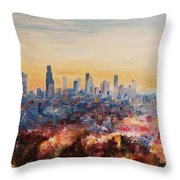 Downtown Los Angeles At Dusk Throw Pillow