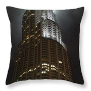 Downtown Los Angeles In The Fog Throw Pillow