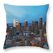 Downtown Los Angeles Throw Pillow by Kelley King
