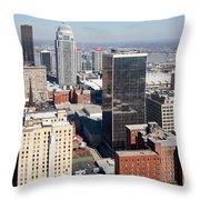 Downtown Louisville Kentucky Throw Pillow