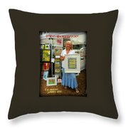 Downtown Marketplace Show Throw Pillow